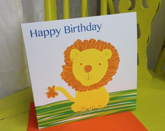 Birthday Card ~ Happy Birthday Lion