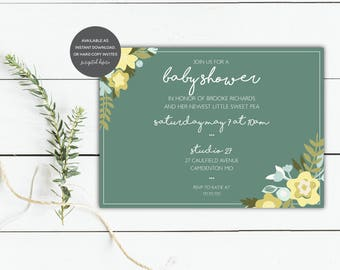 Sweet Floral Invitation