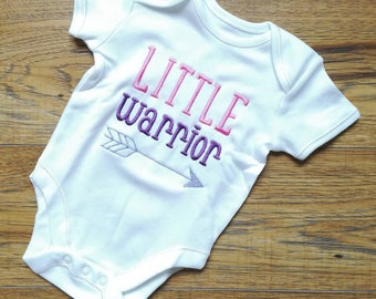 Little Warrior, girls vest, baby girl, baby onsie, baby vest, novelty baby vest, baby gift, new baby gift, newborn gift, baby shower