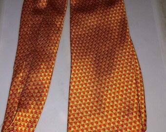 Silk neck tie gap premium authentic neckwear orange and gold