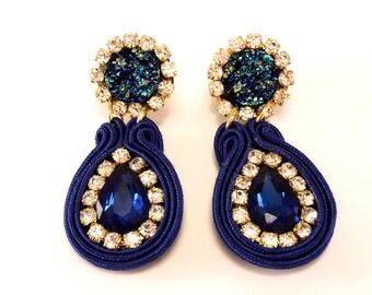 Earrings-Ohrringe-earrings Soutache model: 003-A
