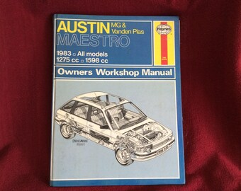 Haynes Owners Workshop Manual Austin MG and Vanden Plas Maestro #922