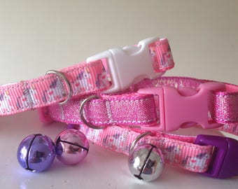 Pink Unicorn Pretty Cat/Kitten Collar (Quick Release) choice of buckles