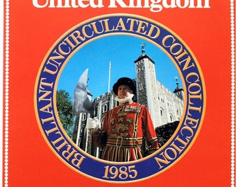 1985 Brilliant Uncirculated Coin Year Set Collection - Royal Mint