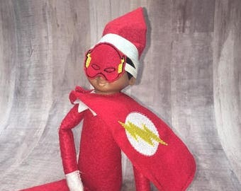 Flash Guy Elf Face Mask and Elf Cape Embroidery Design