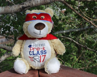 Personalized Super Hero Bear