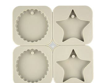 Wax Sachet Silicone Mold - Star and Round Shape Mold for Aroma High Stone - Aromatherapy Mold