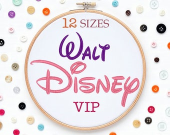 12 Sizes Disney Embroidery Font VIP Format Embroidery Machine,Initials Monogram,Monogram Design,Instant Download
