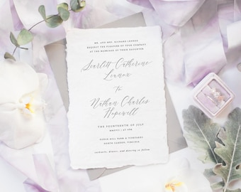 The Scarlett Suite | Wedding Invitation Suite, Wedding Invitation, Romantic Wedding Invitation, Calligraphy Wedding Invitation