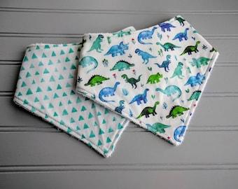 Dinosaur Bibs | Dinosaur Baby Bibs | Bandana Bibs | Baby Gifts