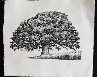 Screenprinted Oak patch