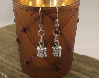 Cute Buddha Earrings- Tibetan Silver