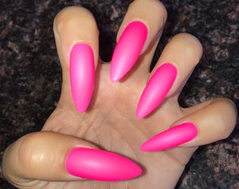 Think Pink Acrylic Nails