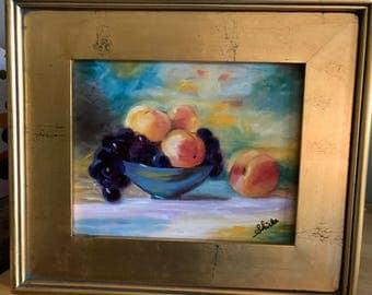 Blue Bowl of Fruit