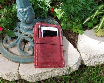 Front Pocket Full Grain B6 Red Brick Travelers Notebook