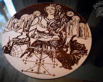 Altar pentacle - Maman Brigitte, Veve, Voodoo