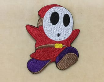 Shy Guy Iron On Patch