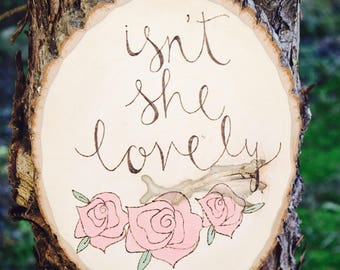Rustic Decor | Isn't She Lovely | Woodland Nursery Decor | Baby Girl Wood Sign