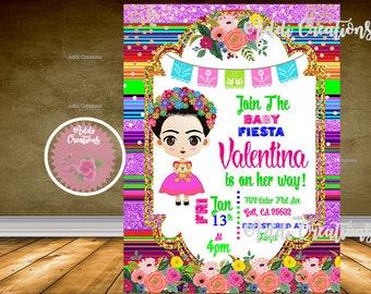 Frida Kahlo Invitation, Frida Invitations, Frida Birthday, Frida Party, Invitaciones Frida, Frida Baby Shower