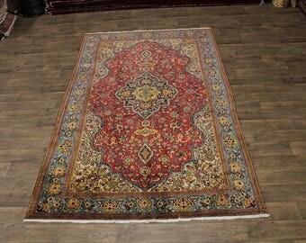 7X11 Fantastic Hand Knotted Shahreza Persian Area Rug Oriental Carpet 6ʹ6X10ʹ9