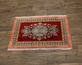 Extra Fine Unique Kork Wool Handmade Kashan Persian Rug Oriental Area Carpet 2X3
