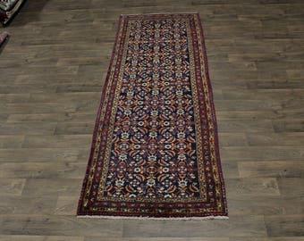 Great Shape Handmade Allover Hossainabad Persian Area Rug Oriental Carpet 4X11