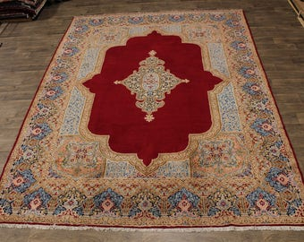 Wondrous Great Shape Classic Kerman Persian Rug Oriental Area Carpet Sale 10X13