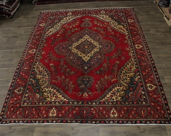 Awesome Unusual Antique Tabriz Persian Rug Oriental Area Carpet Sale 9'5X12'5