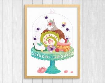 Sweet Tooth // My Neighbor Totoro Giclee Print