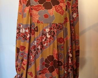 60's/70's Floral Maxi Dress