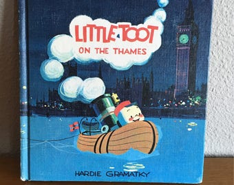 Vintage Copy of Little Toot on the Thames, by Hardie Gramatky- 1964 Weekly Reader Edition of Little Toot on the Thames