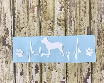 Dog Breed Heartbeat Decal