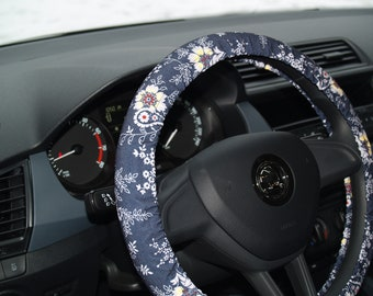Steering wheel cover Car accessories for woman Flower wheel decor Gift for woman Gift for her Birthday gift Floral steering wheel Car decors