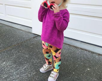 Kids' Donut Leggings - birthday leggings - donut pants