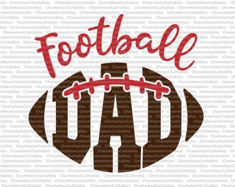 Football Dad, svg, cut, file, sports, sport, fall, silhouette, ball, vector, cricut, cameo, clipart, files, file