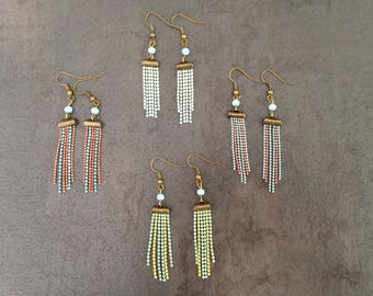 Earrings ball chains.