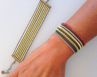 Ball chains Cuff Bracelet
