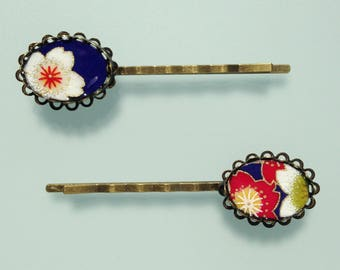 Hair - Head jewellery - bridal hair accessory - colorful flowers.