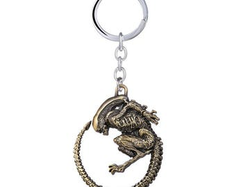 Bronze Alien Keyring - from the ALIENS movies - Predator AVP - First Class Free