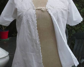 Vintage French hand made Boudoir Jacket