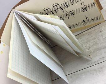 Junk Journal, Smash Book, Art Journal, Scrapbook, Travel Journal, Journal JU107