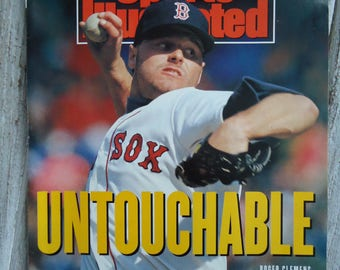 1991 Roger Clemens SI magazine - Boston Red Sox - Roger Clemens - Boston - 1991 - SI magazine - Boston Red Sox gift, Baseball decor, Clemens