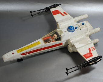Vintage Star Wars X-Wing Fighter and Luke Skywalker Pilot by Kenner