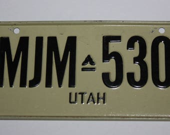 1970's Utah Wheaties Post Cereal Premium Bike Mini Metal License Plate