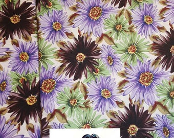 Ankara African Fabric - Purple & Brown Passion