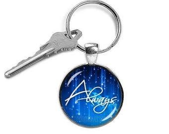 Always Keychain Always Symbol Keyfob Always Keyring Alywas Harry Fan key ring