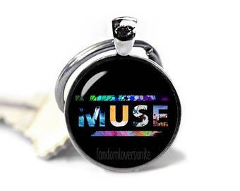 Muse Keyring Muse Keyfob Muse Keychain Band Muse Keychain Fandom Jewelry