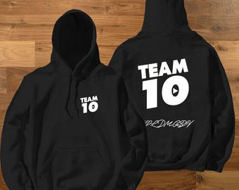 Adult Size Official Team 10 Official hoodie Unisex Ask a question Team 10 Jake Paul JP t-shirt best price fast shipWe  have size for kids