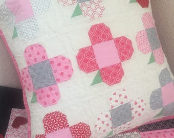 Pillowcase, handmade Valentines Day Pillow case