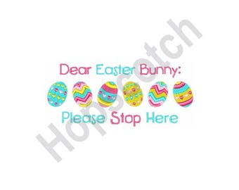 Easter Eggs - Machine Embroidery Design